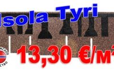 "Акция!!! Битумная черепица Isola ""Tyri"" по цене 13,30 € за квадратный метр."