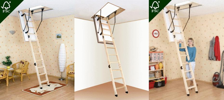 Чердачные лестницы Oman с усиленной теплоизоляцией - от 125€/шт.!